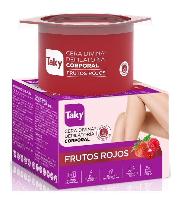 Cera Corporal Divina Depilatoria Frutos Rojos