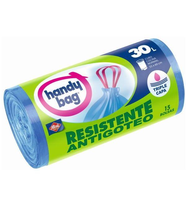 Handy Bag Bolsa Basura Resistente Antigoteo 30 l | 15 uds