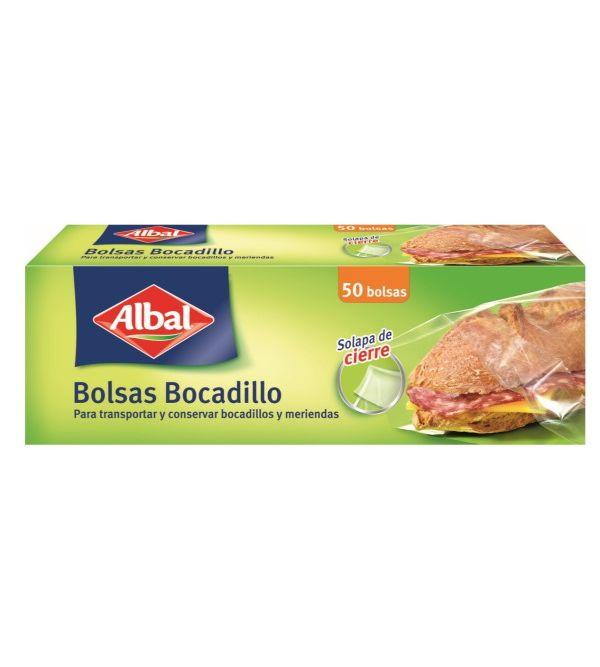 Bolsas Bocadillos con Cierre Solapa 50 uds