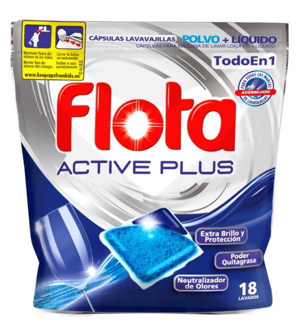 Active Plus Todo en 1 Cápsulas Lavavajillas 18 Lavados
