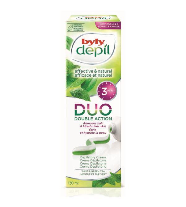DEPIL DUO Crema Depilatoria Menta y Té Verde   130 ml