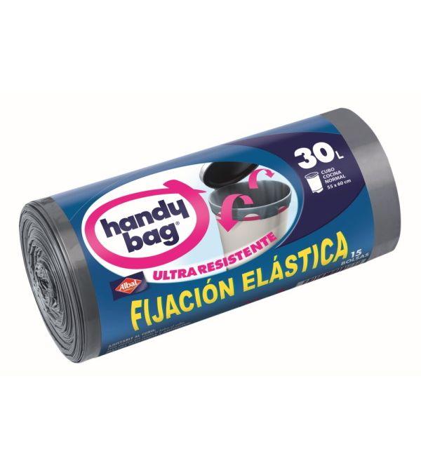 Handy Bag Bolsa Basura Fijación Elástica 30 l 15 uds