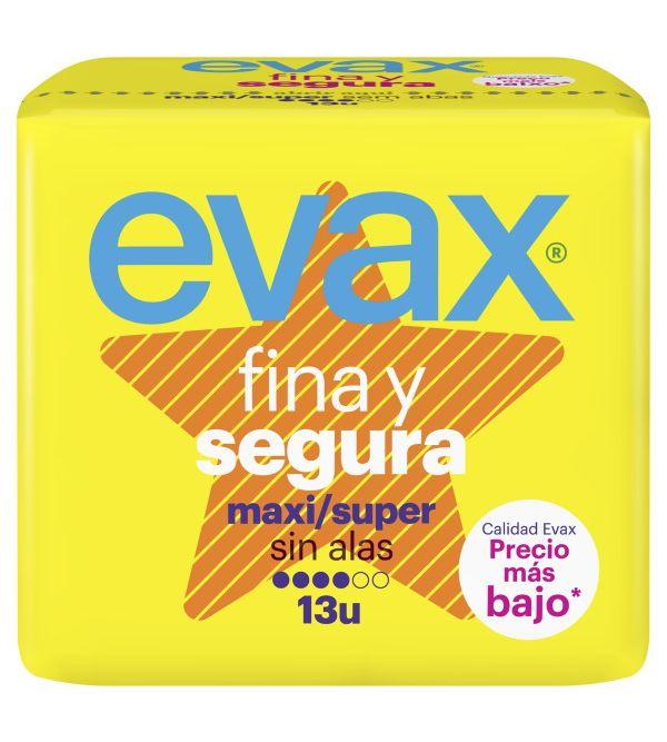 Compresas Fina y Segura Maxi Super Sin Alas 13 unidades