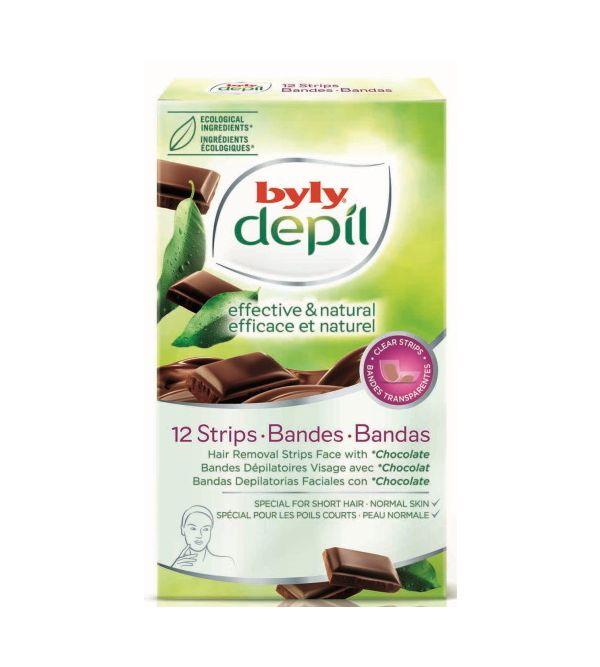 Depil Bandas Faciales Chocolate   12 uds