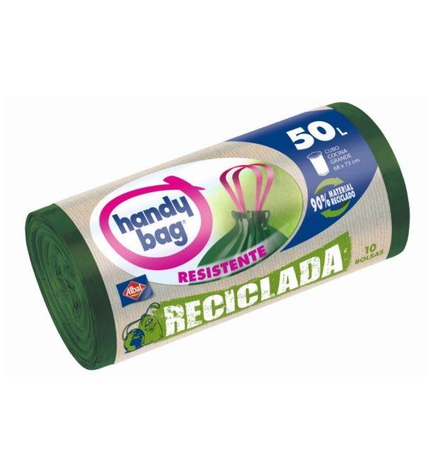 Handy Bag Bolsa Basura Reciclada Resistente 50 l | 10 uds