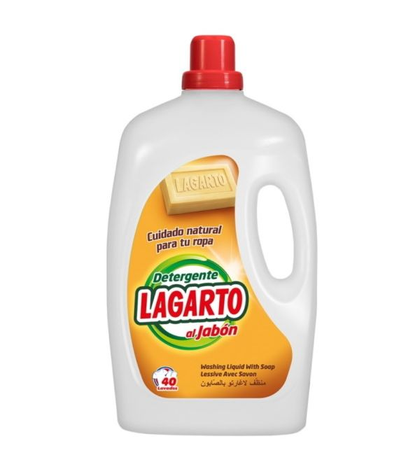 Detergente Al Jabón 40 Lavados   3.000 ml