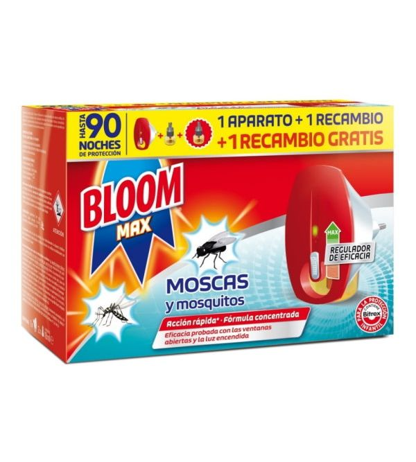 Max Eléctrico Contra Moscas y Mosquitos + 2 Recambios