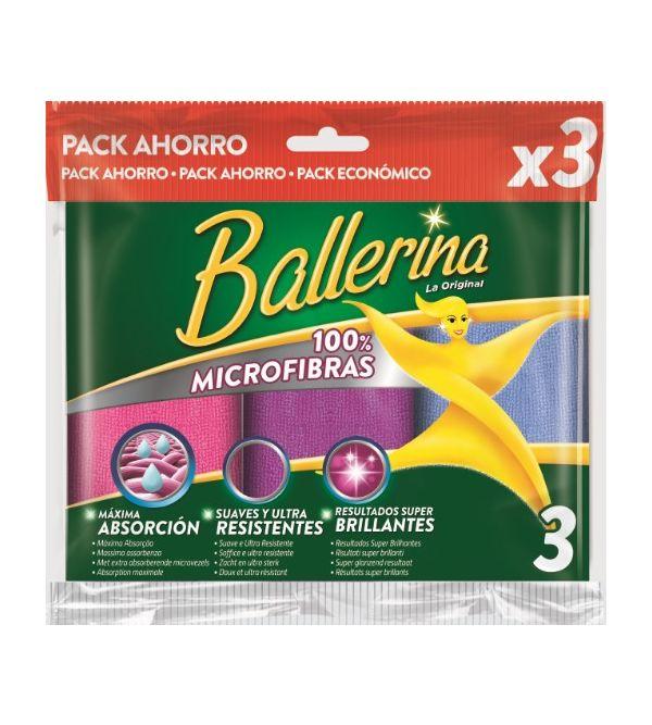 Bayeta Microfibra Pack 3 ud