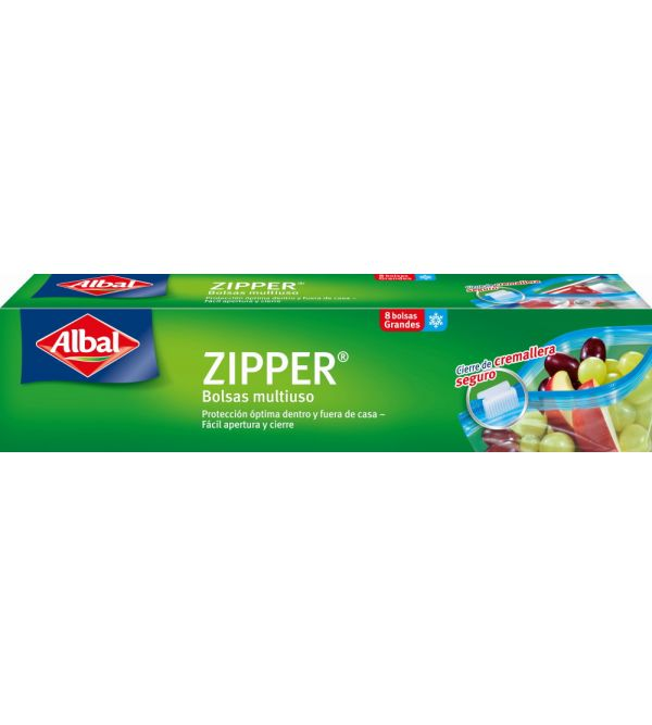 Zipper Bolsa Multiusos Grandes 8 uds