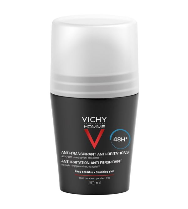 Vichy Homme Desodorante Roll-On Antitranspirante 48H 50 ml