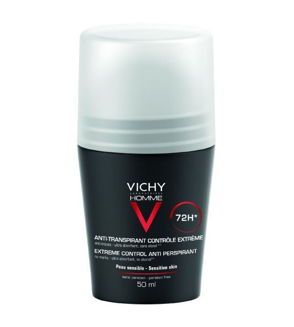 Vichy Homme Desodorante Roll-On Antitranspirante 72H 50 ml