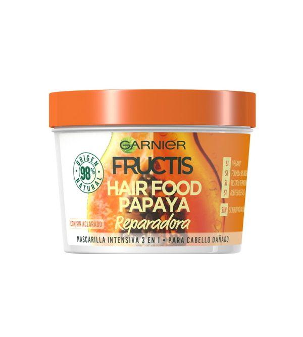 Hair Food Papaya Mascarilla Intensiva 3 en 1 | 390 ml