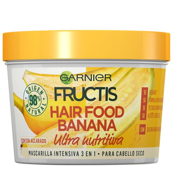 Hair Food Banana Mascarilla Intensiva 3 en 1 390 ml