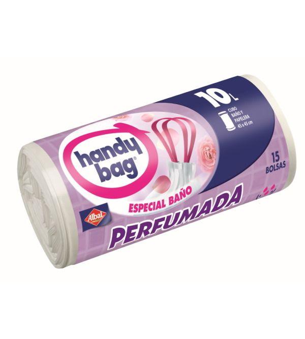 Handy Bag Bolsa de Basura Baño Perfumada 10 l | 15 uds