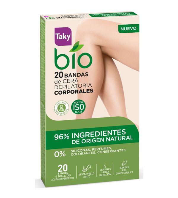 Bio Bandas de Cera Depilatoria Corporales   20 uds