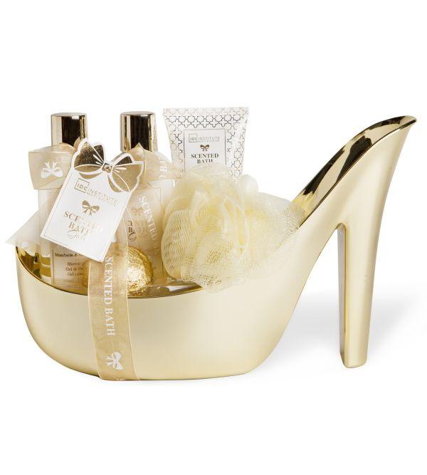 Zapato Dorado Set de Baño