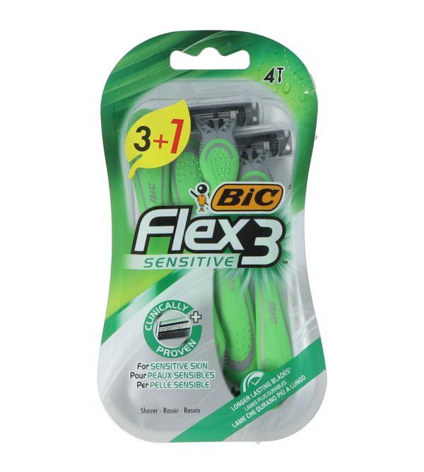 Flex 3 Sensitive Maquinillas | 4 uds